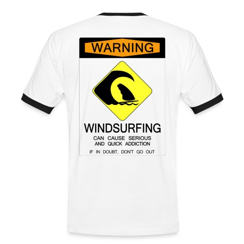 Windsurfing Addiction Warning - Men's Ringer Shirt