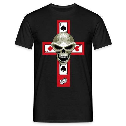 Poker Cross - Men's T-Shirt
