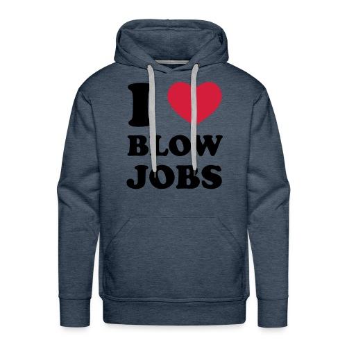 I <3 Blowjob's - Men's Premium Hoodie