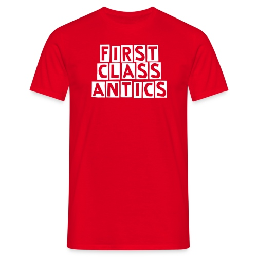 First Class Antics Red Mens Tee - Men's T-Shirt