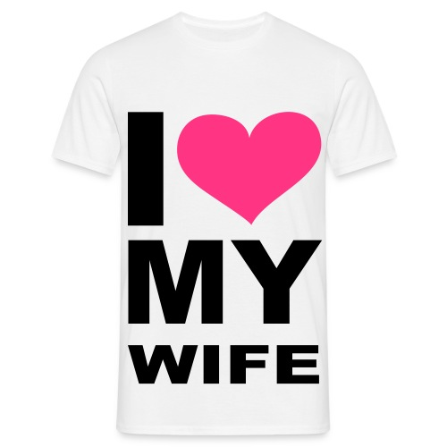 T- Paita - I love my wife - Miesten t-paita