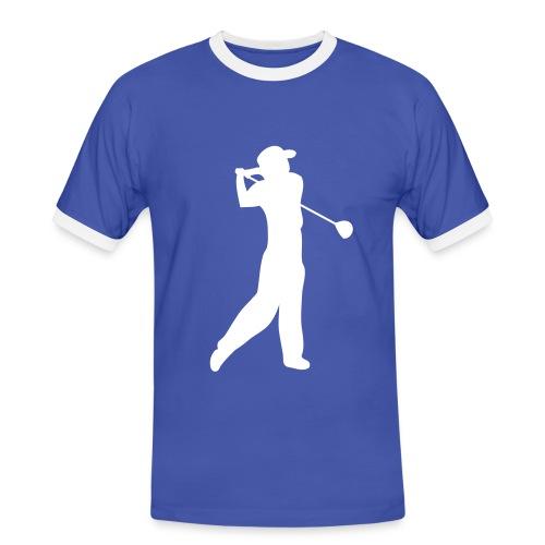 Tee-shirt homme manches courtes motif Golfeur - T-shirt contrasté Homme