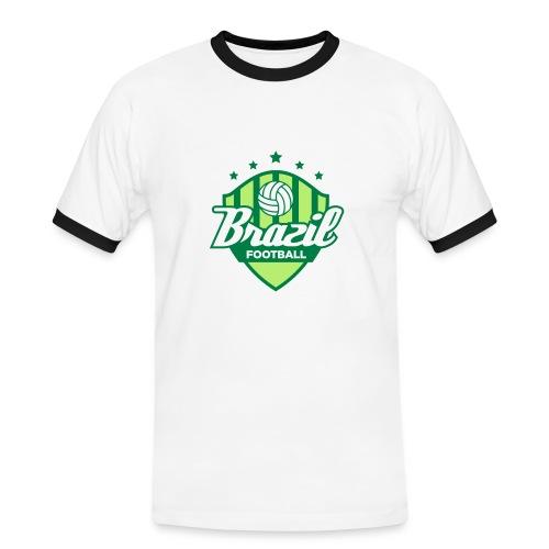 Tee-shirt homme manches courtes motif Brazil - T-shirt contrasté Homme