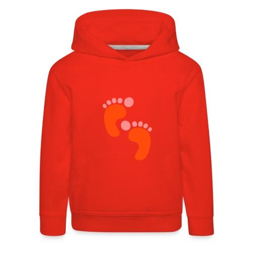 Sweatshirt capuche enfant motif pieds - Pull à capuche Premium Enfant