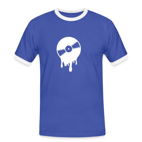 Vinyl_B - Männer Kontrast-T-Shirt