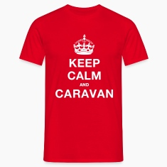 Red keep_calm_caravanblk Men's T-Shirts