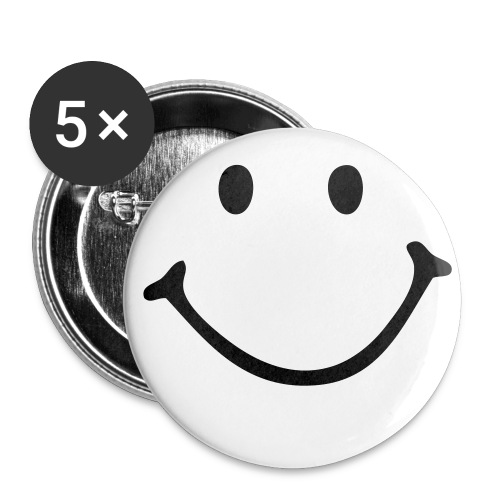 Badge Sourire - Badge grand 56 mm