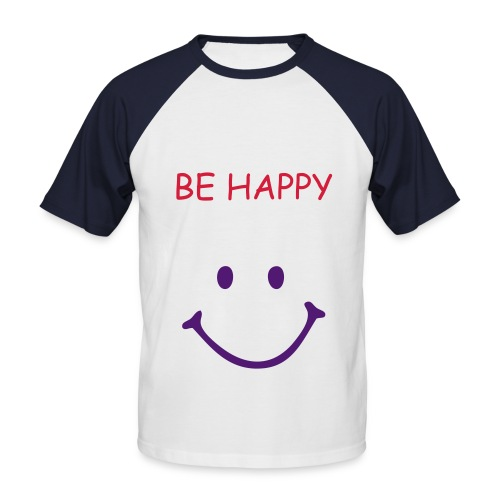 BE HAPPY BASEBALL - Men's Baseball T-Shirt