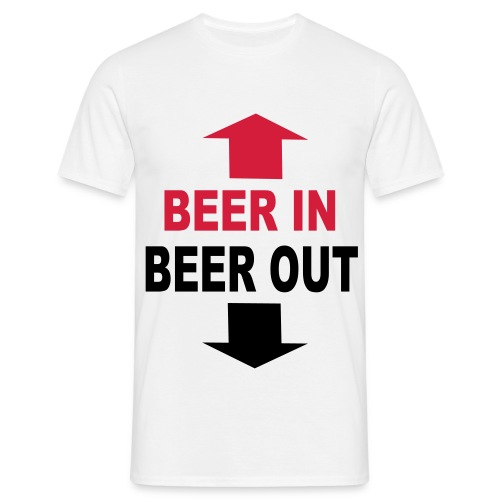 Beer in. Beer Out - T-skjorte for menn