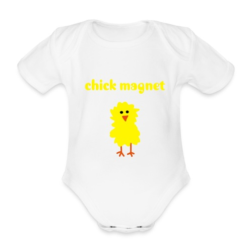 chick magnet - Organic Short-sleeved Baby Bodysuit