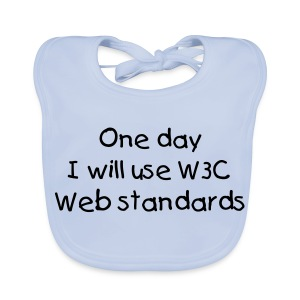 webstandards_white_baby_bib_2 - Baby Organic Bib