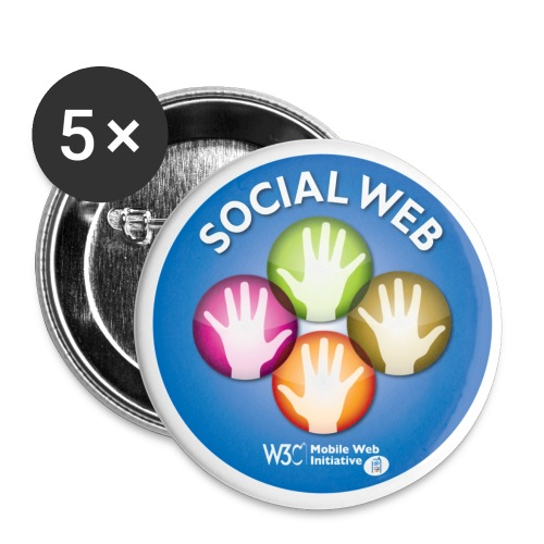 socialweb_blue_badges - Buttons small 1''/25 mm (5-pack)