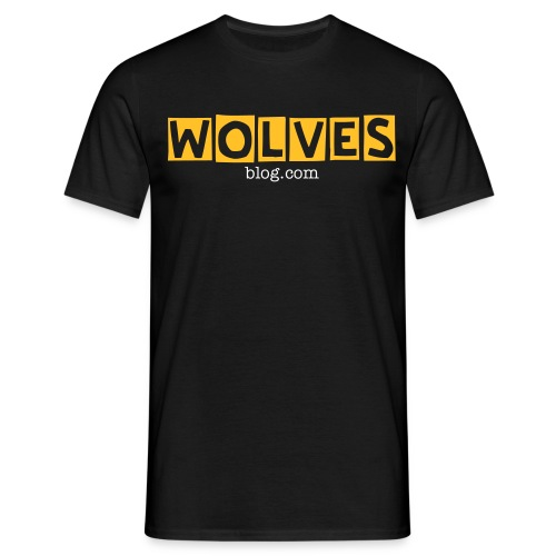 Wolvesblog.com plain black tshirt - Men's T-Shirt