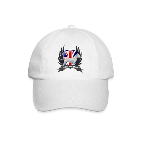 Bullterrier white Unions Jack wings - Baseball Cap