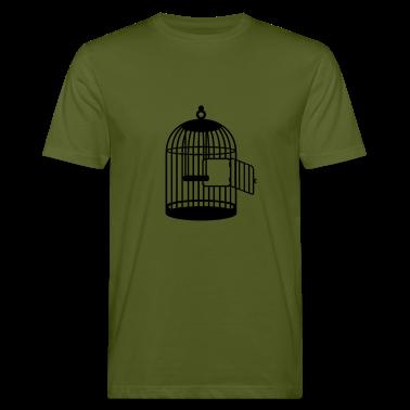 Mosgrøn tomme bur åben / empty cage (1c) T-shirts