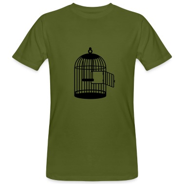 Moss green Leerer Käfig / empty cage (1c) Men's T-Shirts