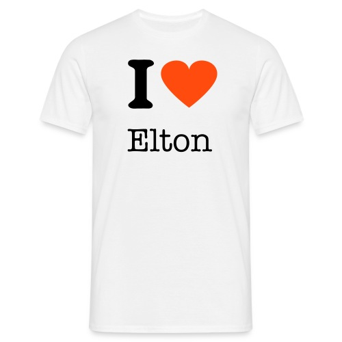 I love Elton - Men's T-Shirt