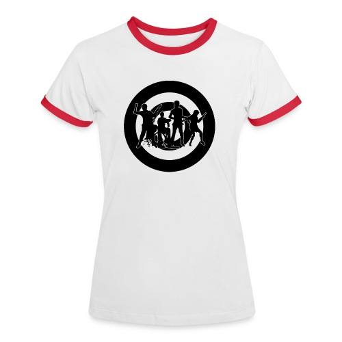 Indie Band Girl Red - Camiseta contraste mujer