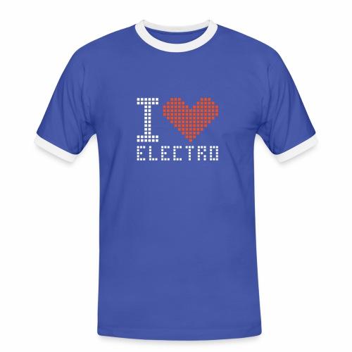 I Love Electro - Männer Kontrast-T-Shirt