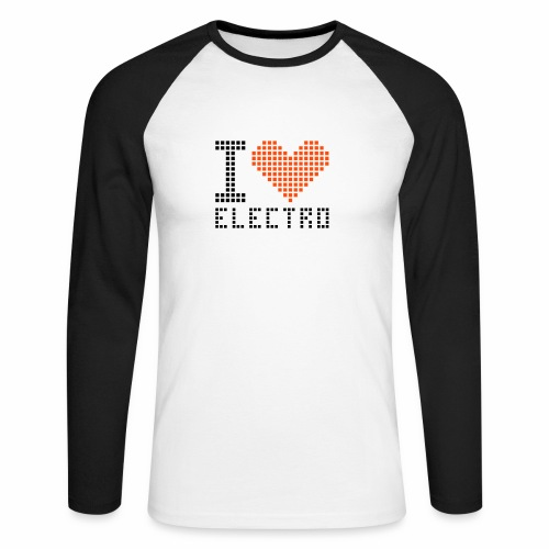 I Love Electro - Männer Baseballshirt langarm