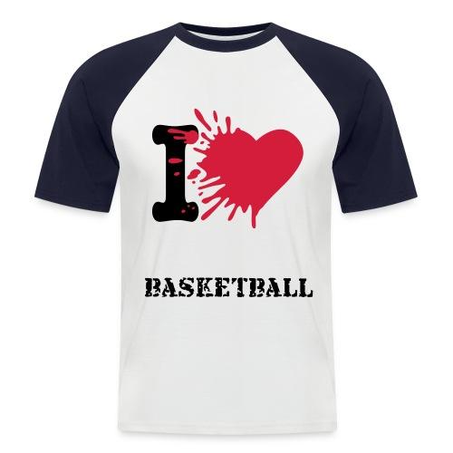 I Love Basketball - Camiseta béisbol manga corta hombre
