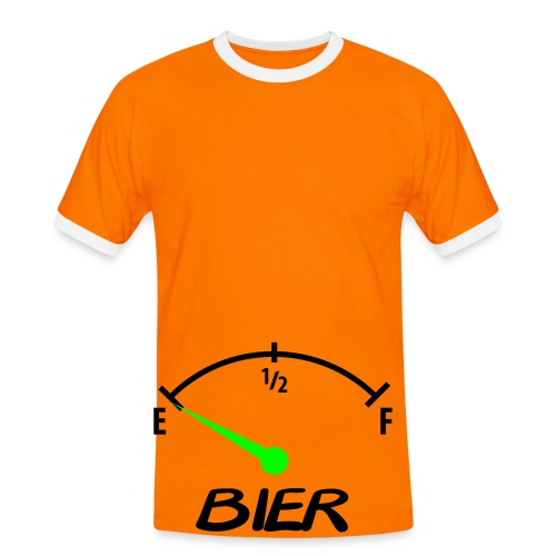 T-Shirt Bier - Leeg... - Mannen contrastshirt