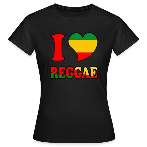 Camiseta I love Reggae (Chica) - Camiseta mujer
