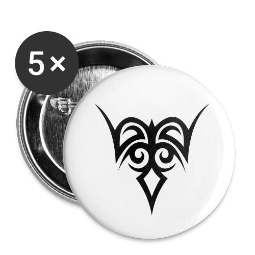 Tribal - Buttons groß 56 mm (5er Pack)