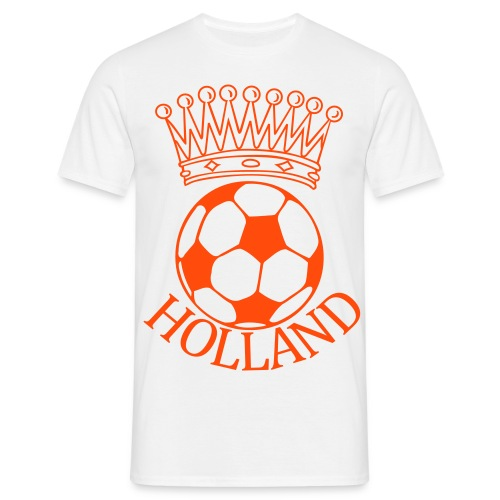 Men: Kroon bal Holland oranje t-shirt - Mannen T-shirt
