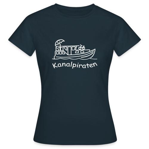 Kanalpiraten - Frauen T-Shirt klassisch - Schrift Weiß - Frauen T-Shirt