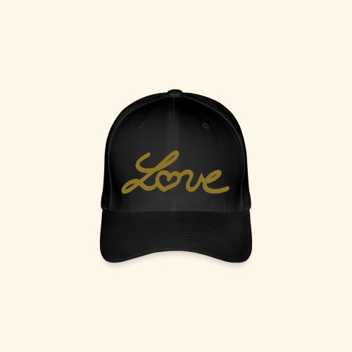 FlexFit Cap Love Metalic gold - Casquette Flexfit