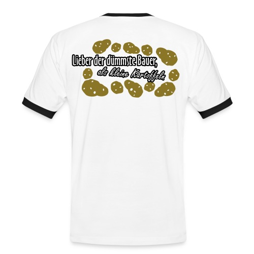 Gewinner der Kartoffelernte - Männer Kontrast-T-Shirt