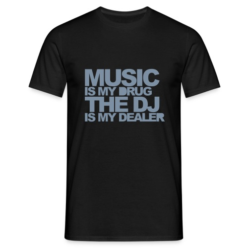 T-Shirt Music is... scritta Argento - Maglietta da uomo