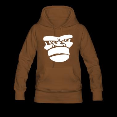 Ruskea gorilla monkey affengesicht ape Puserot