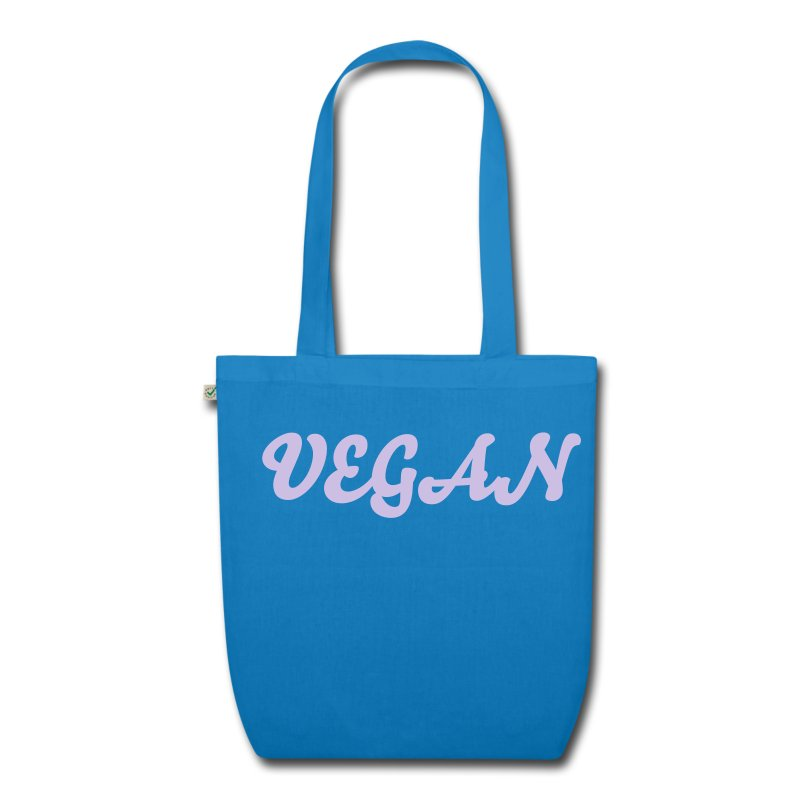 Vegan Organic Tote pink/blue - EarthPositive Tote Bag