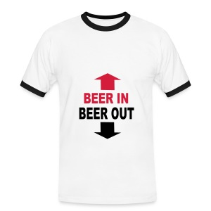beer in beer out - Camiseta contraste hombre