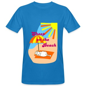 Sheep on the Beach - Männer Bio-T-Shirt