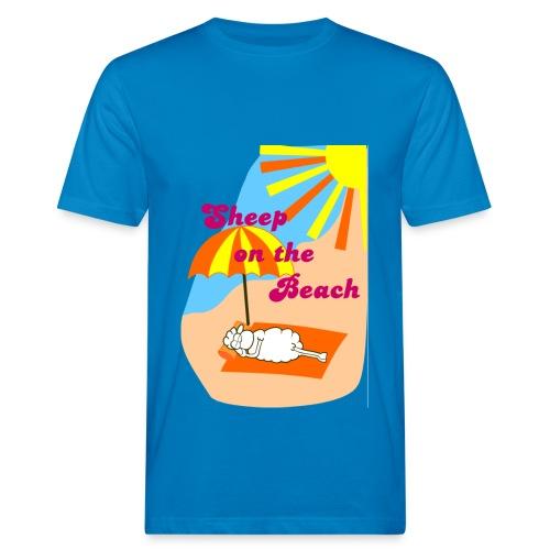 Sheep on the Beach - Männer Bio-T-Shirt