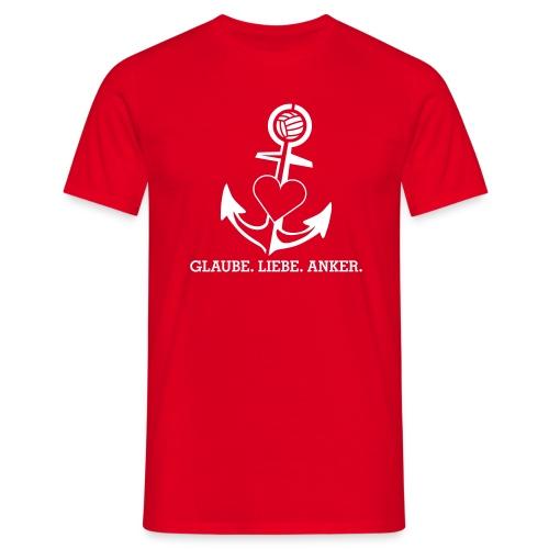 T-Shirt mit Anker - Männer T-Shirt