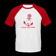 T-Shirts ~ Männer Baseball-T-Shirt ~ T-Shirt mit Anker