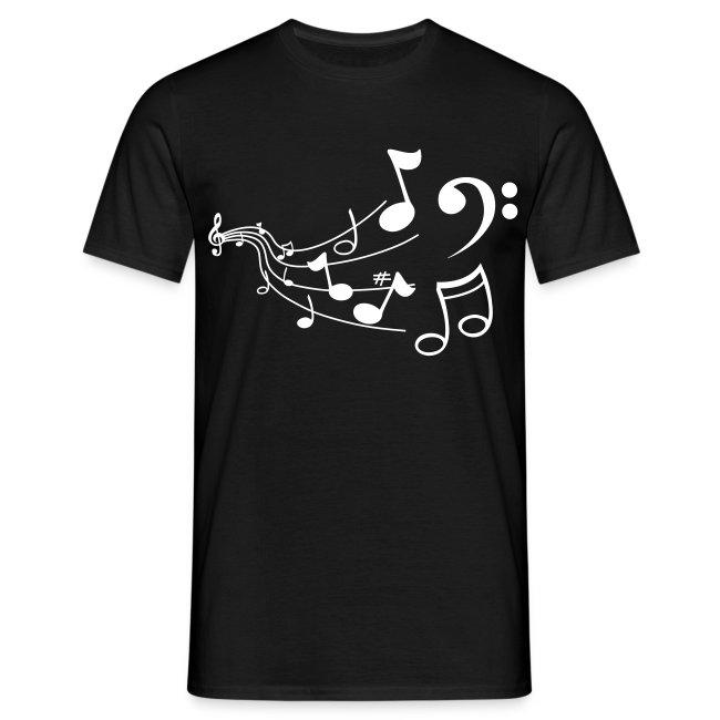 T Shirt Note De Musique - T-shirt Homme