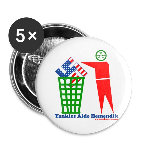 Yankies Alde Hemendik - Buttons medium 1.26/32 mm (5-pack)