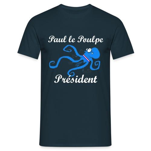 Paul le Poulpe Président t-shirt homme - T-shirt Homme
