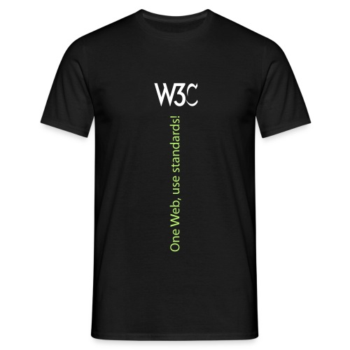oneweb_men_black_shirt_2 - Men's T-Shirt