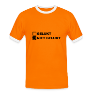 T-shirts ~ Mannen contrastshirt ~ Niet Gelukt - Heren Shirt