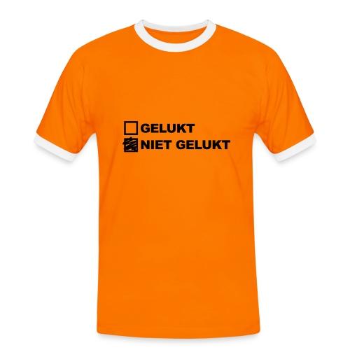 Niet Gelukt - Heren Shirt - Mannen contrastshirt