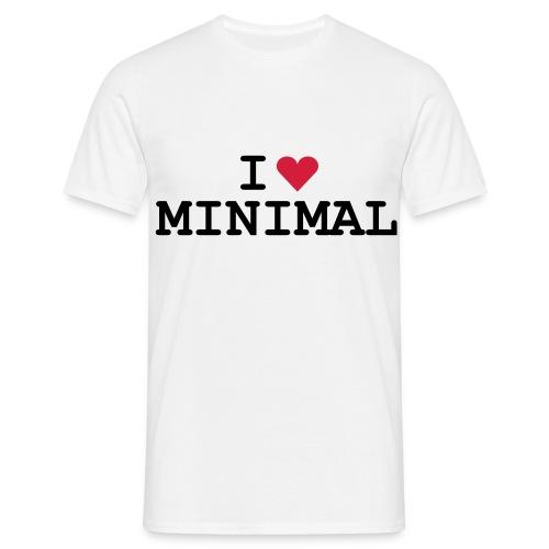 I Love Minimal Shirt - Männer T-Shirt