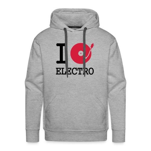 I Love Elektro Pulli - Männer Premium Hoodie
