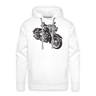 White chopper hog bike motorrad Hoodies & Sweatshirts