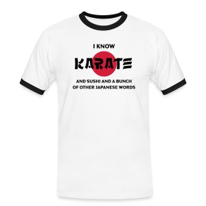 T-skjorte - I know karate... - Kontrast-T-skjorte for menn